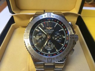 Breitling Hercules Uhr / Armbanduhr 46mm Stahlarmband Bild