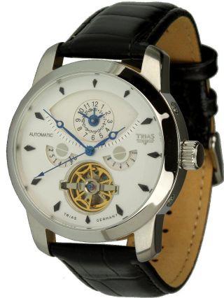 Trias Uhren - Automatikuhr Modell Inka - Herrenuhr Mit 2 Zeitzonen, Bild