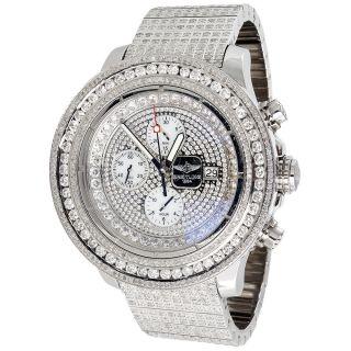 Männer Brietling Avenger 36 Ct Diamant 55mm Uhr W / Völlig Geladen Band Bild
