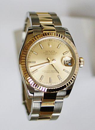 Rolex Datejust 31mm 178273 Mit Box Und Papieren Aus Dez 2012 Bild