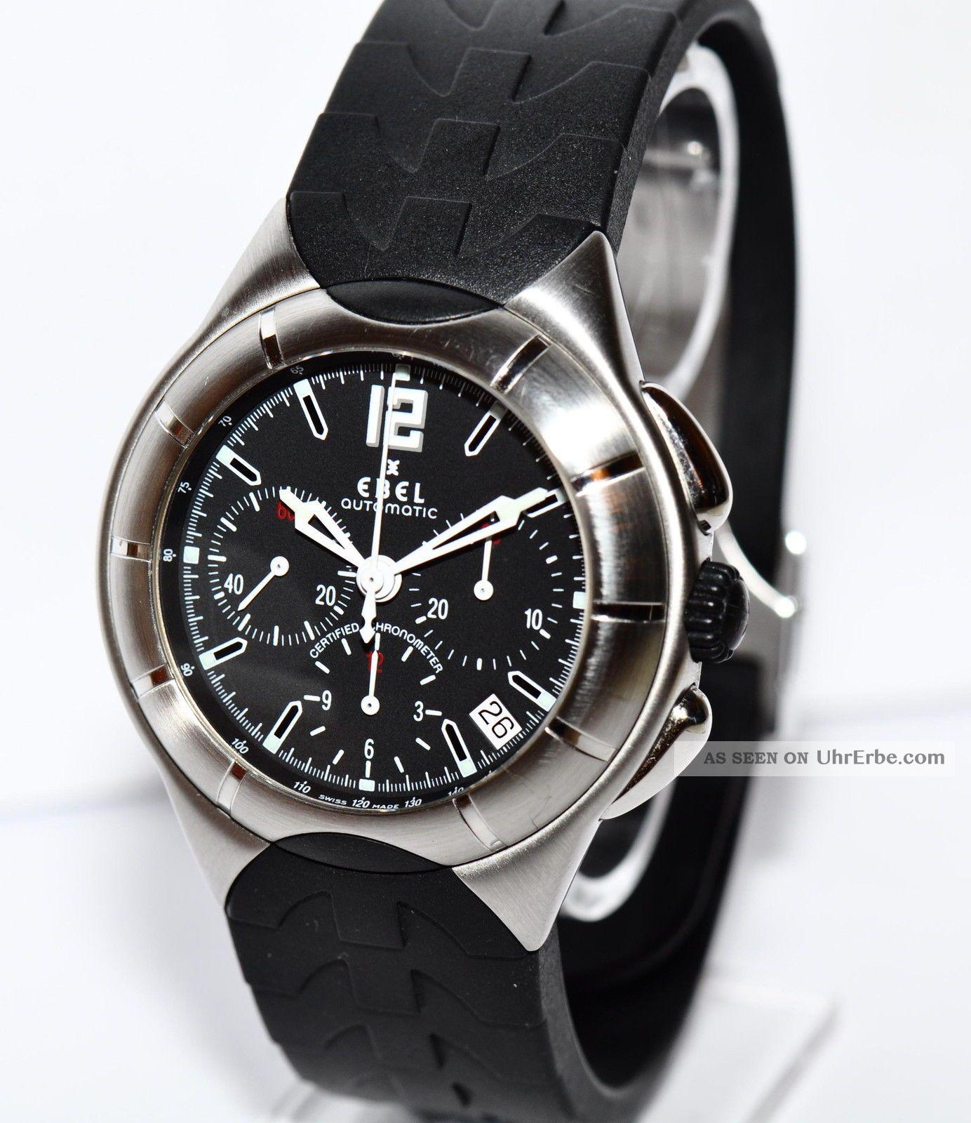 Ebel Type – E Stahl Kautschuk Uhr Ref.  9137c51 Papiere Box 2013 Armbanduhren Bild