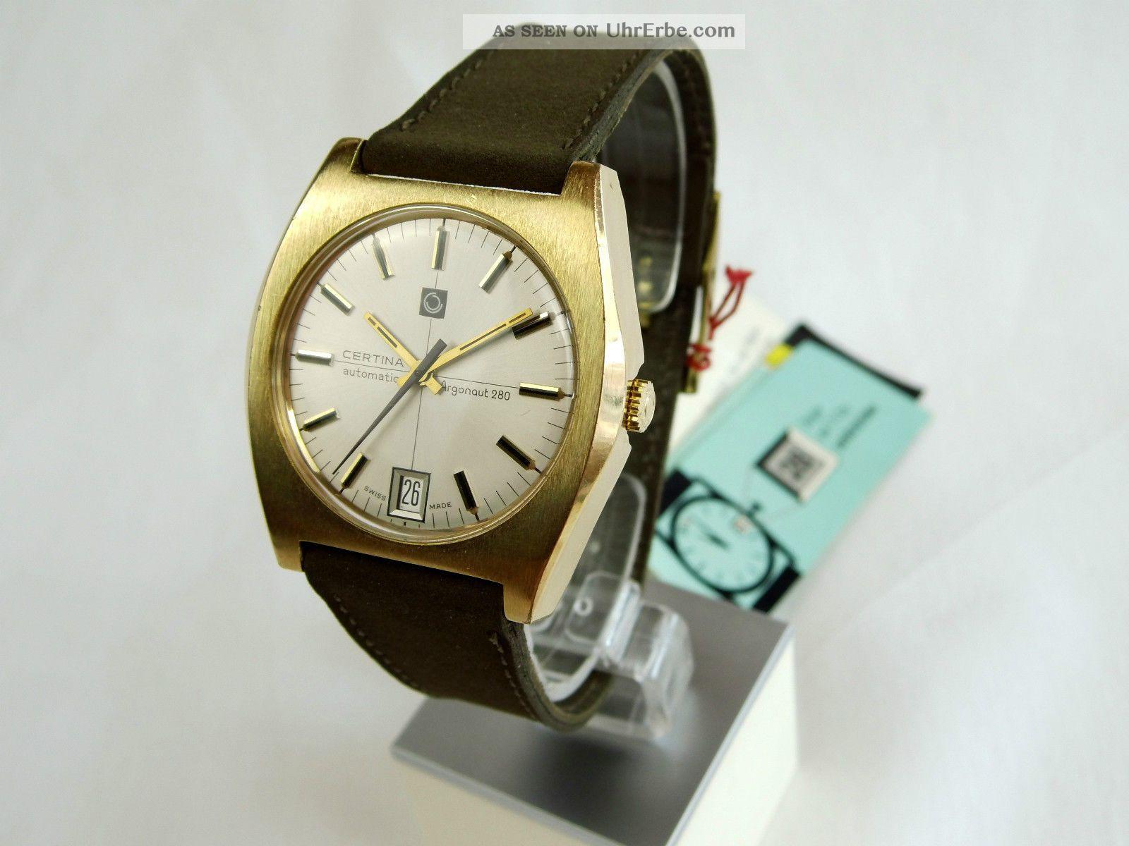 Certina Argonaut 280 Automatic Armbanduhr Datum Gold Doublee Old Stock Armbanduhren Bild