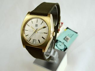 Certina Argonaut 280 Automatic Armbanduhr Datum Gold Doublee Old Stock Bild