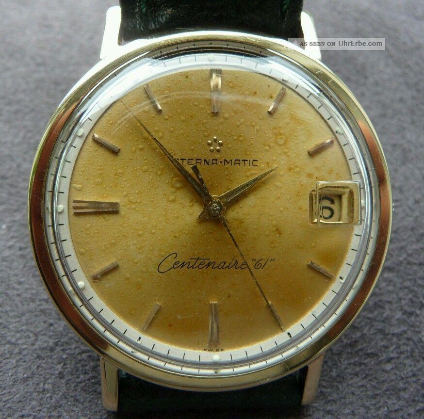 Eterna•matic Centenaire 61 Stahl/gelbgold Automatik Armbanduhren Bild
