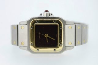 Cartier Santos Automatk Stahl Gold 23mm Medium Damenuhr Bild