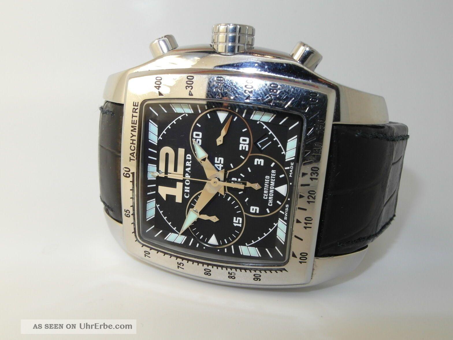 Tycoon Chopard Chronograph Xl Stahl Herrenuhr Ref.  :16/8961 Armbanduhren Bild