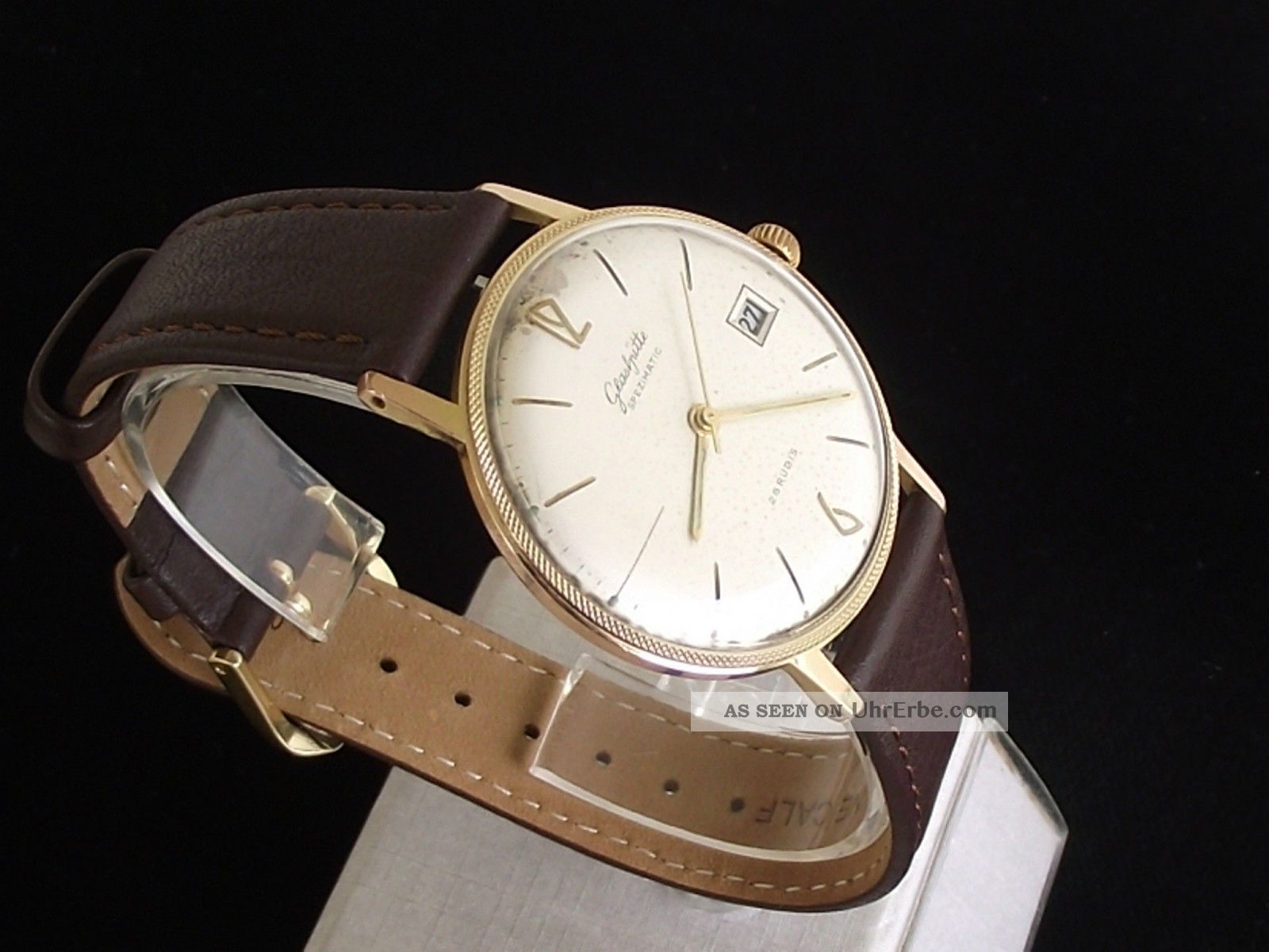 Große,  Tolle Gub GlashÜtte Spezimatic Herrenuhr Kal.  75 - Seltenes Gehäuse Armbanduhren Bild