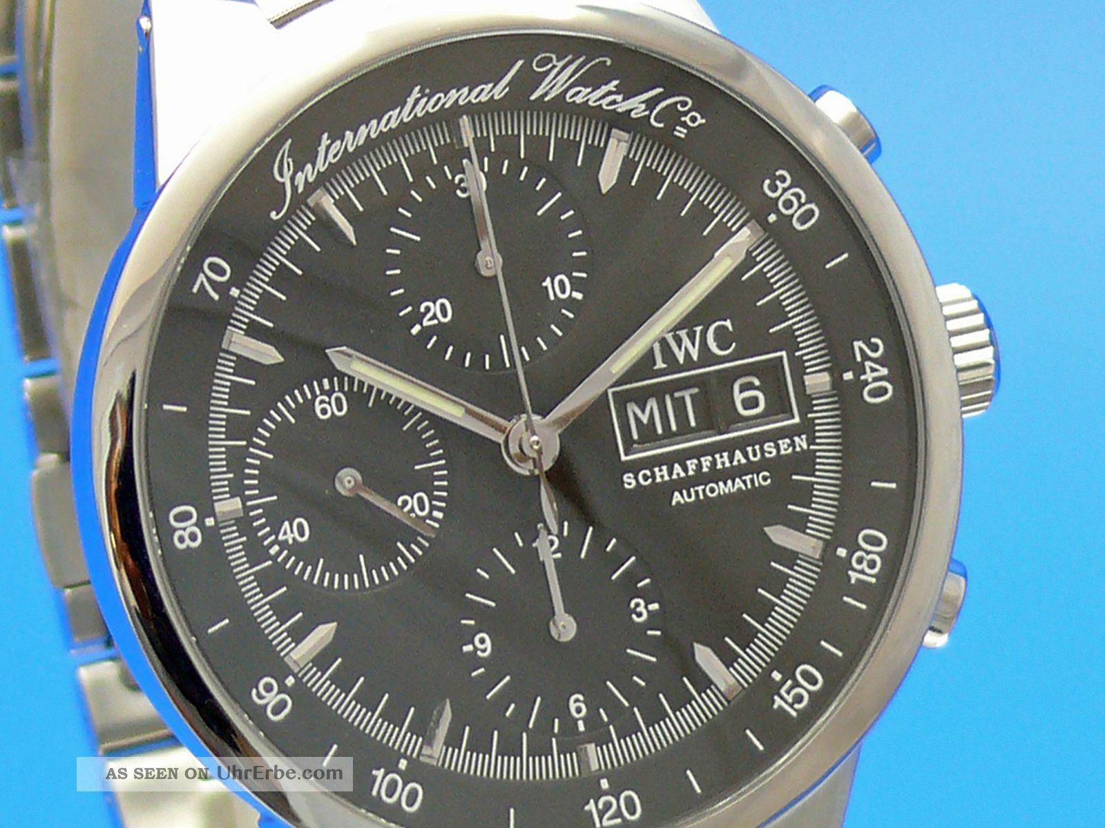 Iwc Gst Chronograph Iw3707 Automatik Ankauf Ihrer Uhr Möglich Tel.  79014692 Armbanduhren Bild