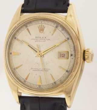 Rolex Big Bubble - Ref.  6105 - Oyster Perpetual Datejust Chronometer - 18ct Gold Bild