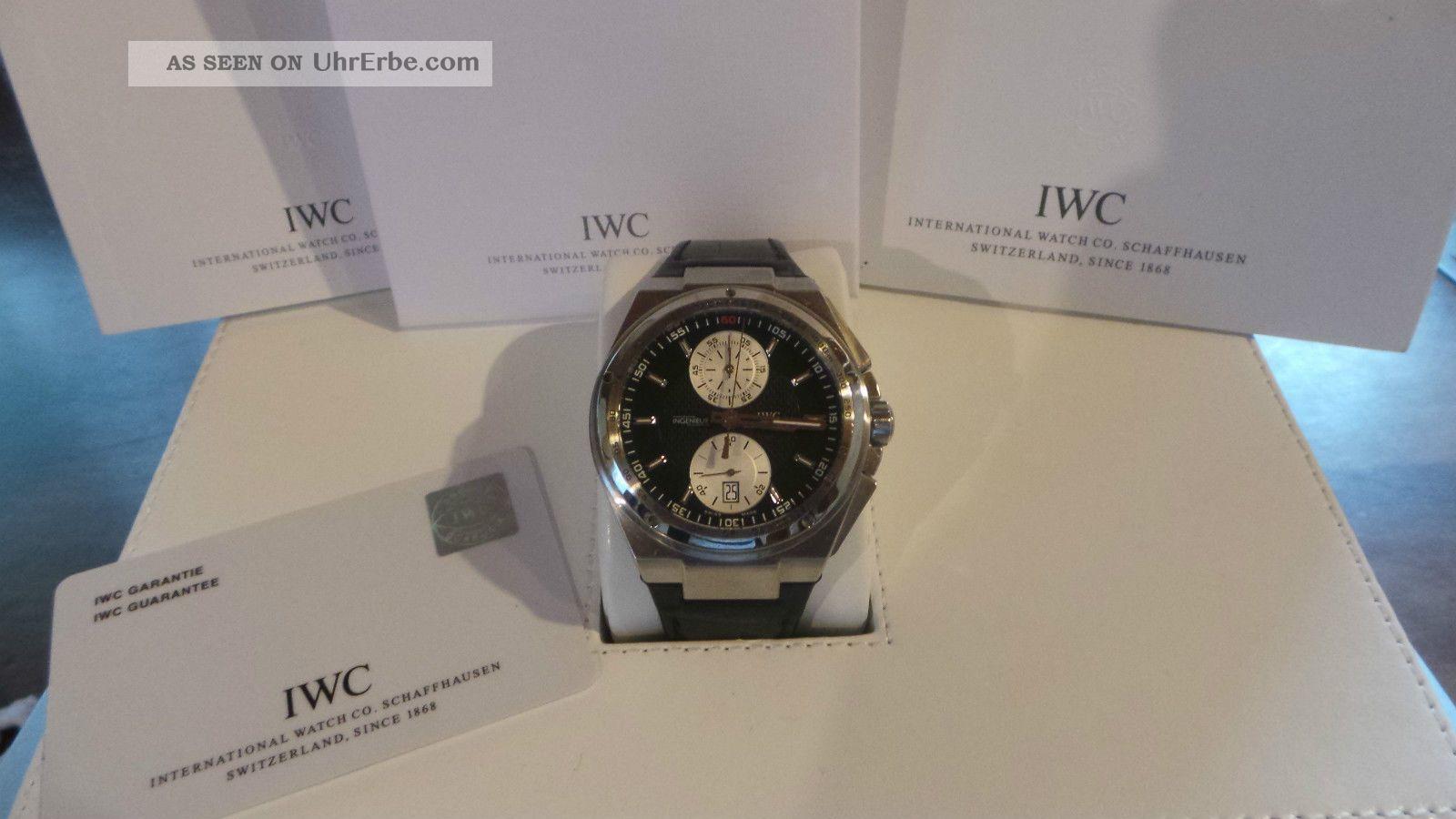 Iwc Grosse Big Ingenieur Chrono - 45,  5mm - Schwarz - Wie - Ovp - Armbanduhren Bild