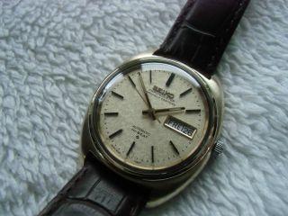 Seiko Chronometer 18 K 0,  750 Gold/stahl Automatic 5626 - 7090 Hi - Beat Bild