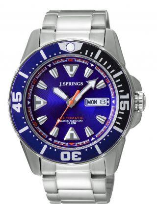 J.  Springs Beb080 Automatic Diver Uhr Herren Armbanduhr Bild