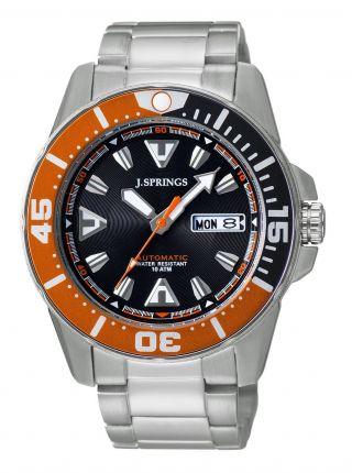 J.  Springs Beb078 Automatic Diver Uhr Herren Armbanduhr Bild