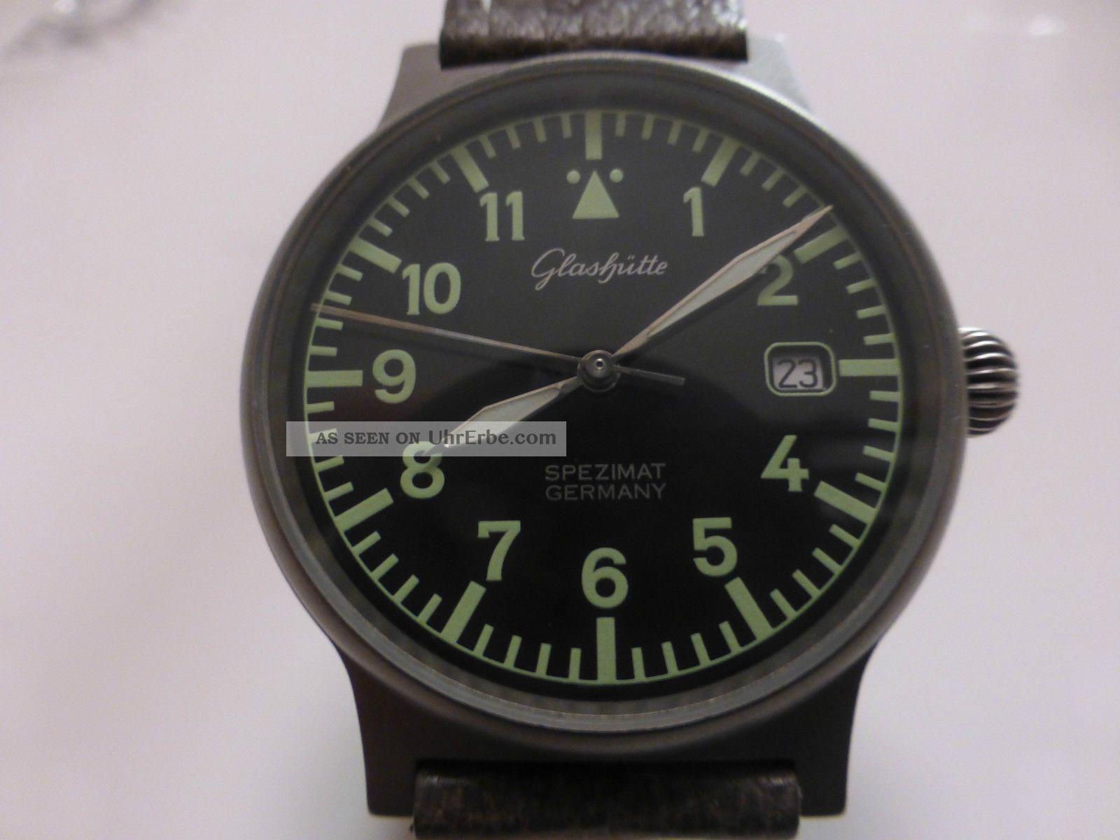 GlashÜtte Spezimat Titan Automatik Lederband Und Titan Dornschliesse Armbanduhren Bild