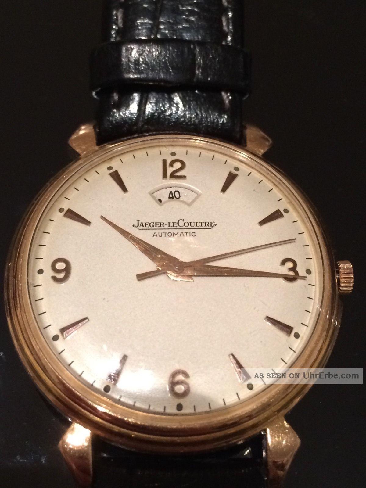 Jaeger - Lecoultre - Vintage - Jlc - Power - Reserve - Automat 18k Red Gold Armbanduhren Bild