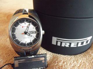 Pirelli Pzero Tempo Automatik Uhr Herren Eta 2836 - 2 Titan Saphirglas Handaufzug Bild