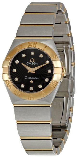 Omega 123.  20.  24.  60.  63.  001 Constellation Diamant Braun Zweifarbig Damen Uhr Bild