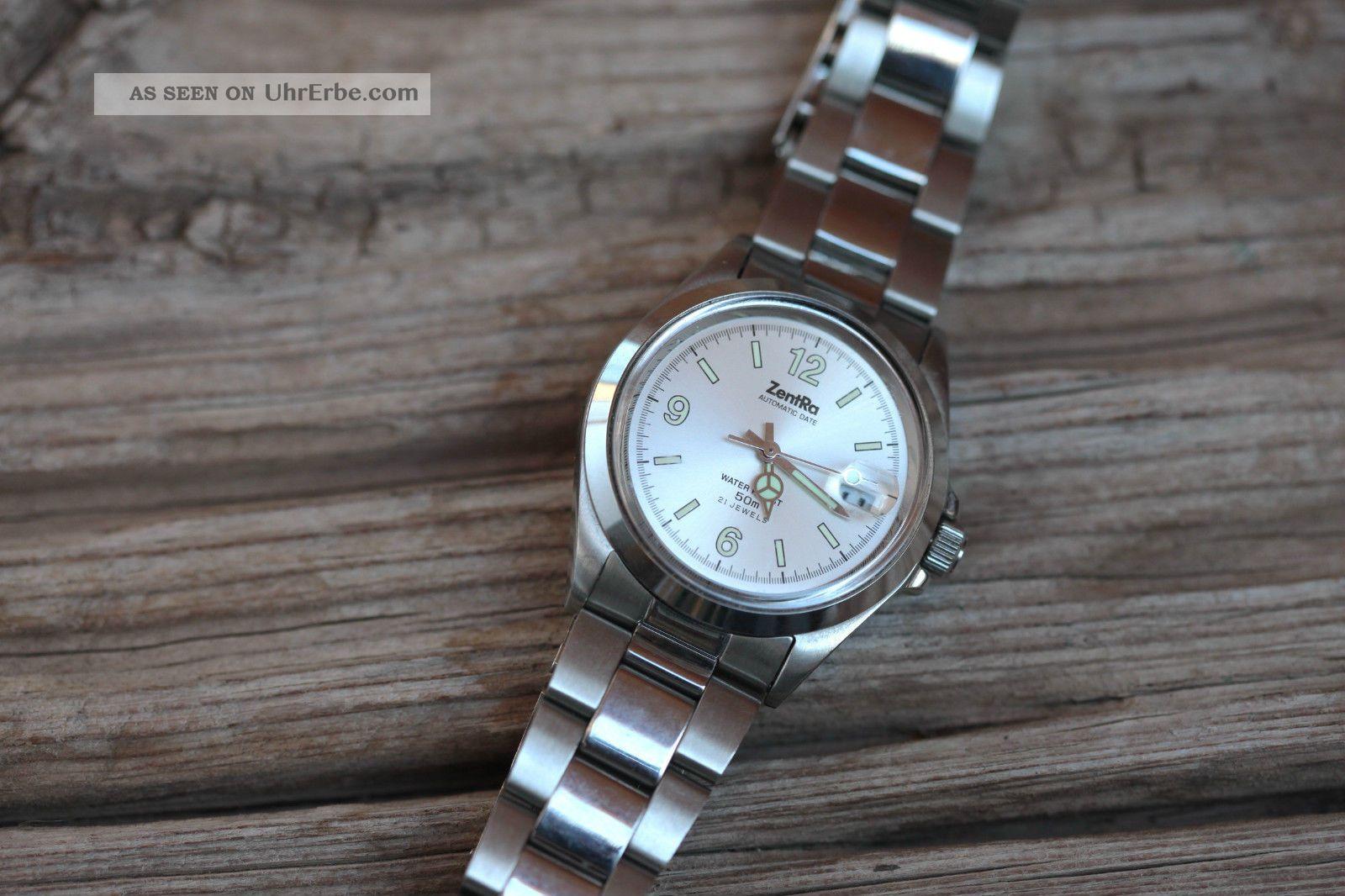 Zentra Automatic Herrenarmbanduhr Mit Edelstahlarmband Armbanduhren Bild