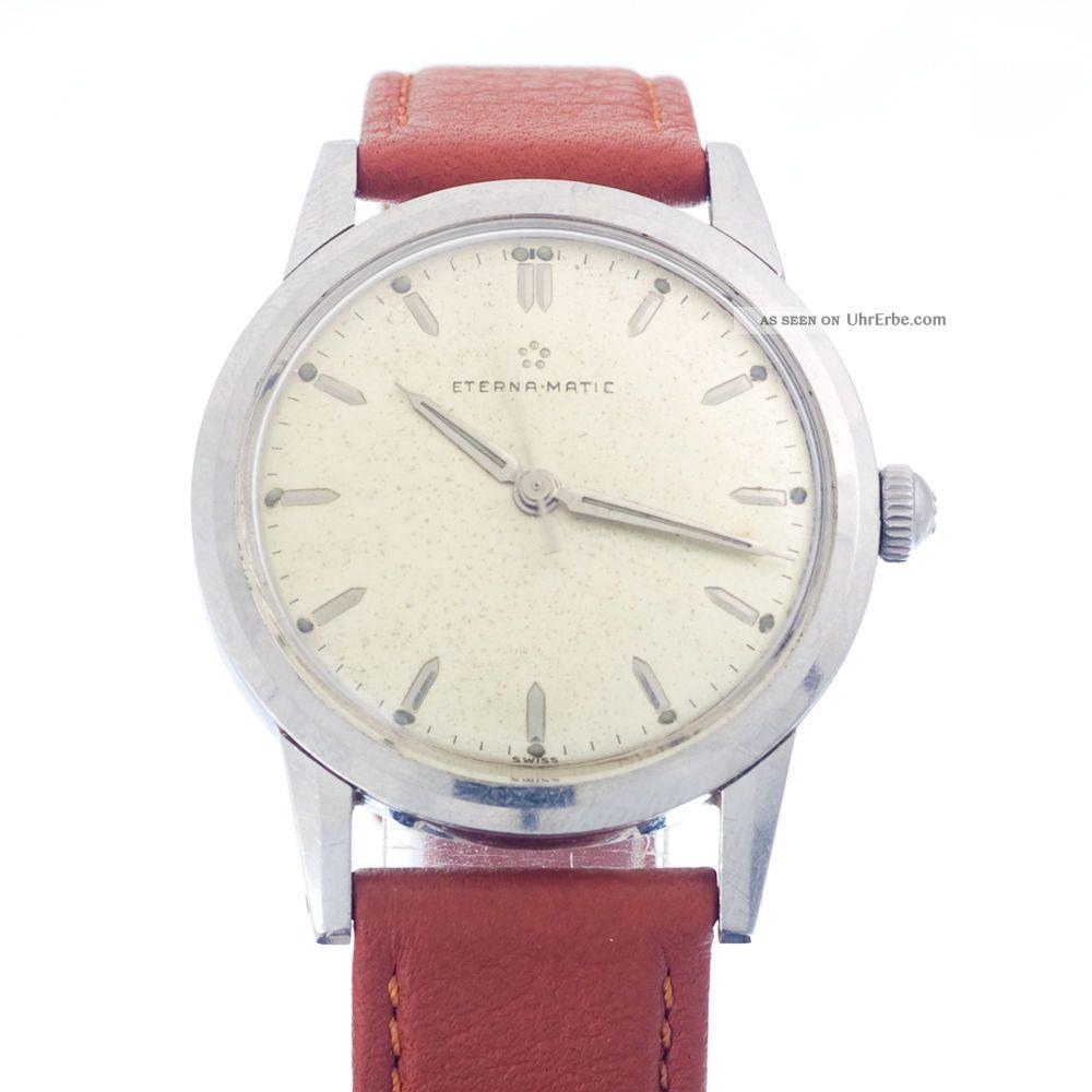 Seltene Eterna Matic Automatic Cal 1249 Uc Aus Der 50er Jahre Mit Rechnung Armbanduhren Bild