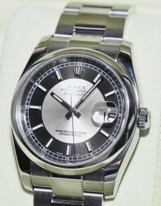 Rolex Datejust 36mm Ref.  116200 Stahl Uhr 2008 Papiere Box Bild