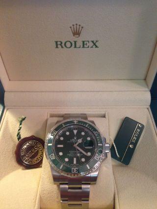 Rolex Submariner Date.  Referenz: 116610lv.  Mit Box,  Papieren Und Bild