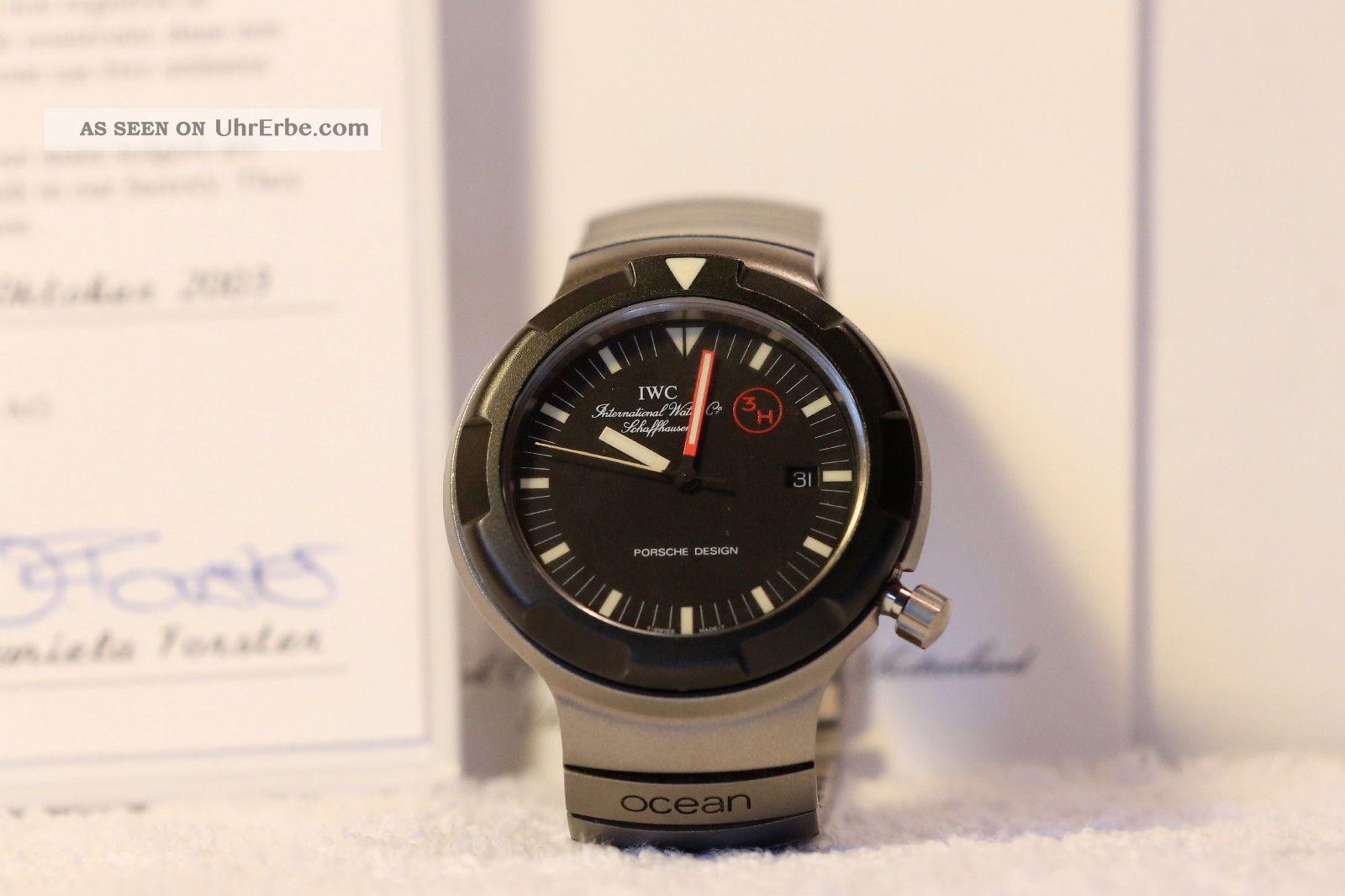 Iwc Ocean Bund Ref.  3314 Kampftaucher Caliber 2250 Box & Certifificate Armbanduhren Bild