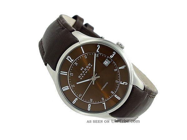 Skagen Herrenarmbanduhr Automatik Leder 755xlsld Braun Armbanduhren Bild