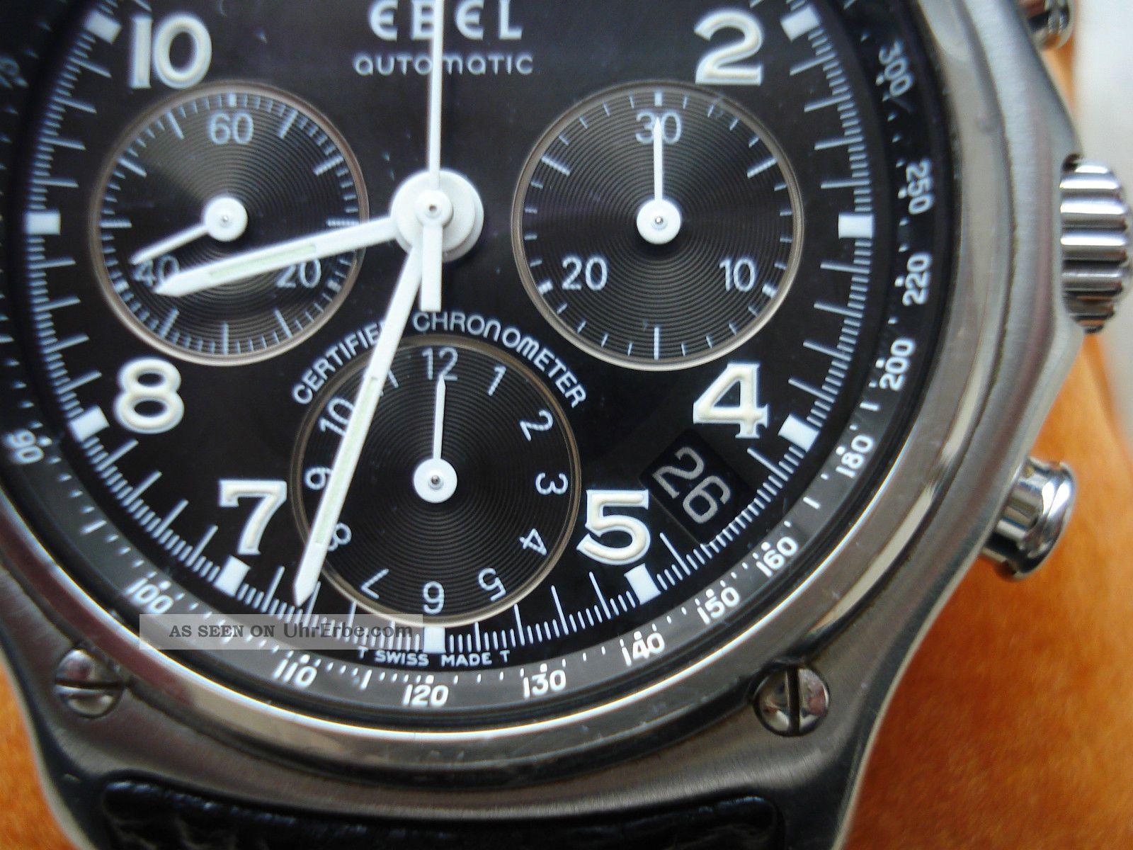 Ebel 1911 Le Modulor Edelstahl Chronograph Herren Glasboden Vp 4.  300,  - Armbanduhren Bild