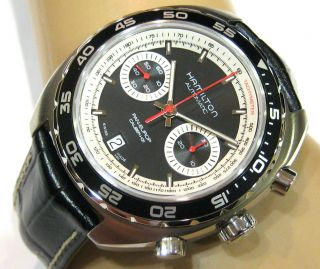 - Hamilton - Pan Europ - 60 Hours - Automatic - Chronograph - H35756735 - 2 Years Bild