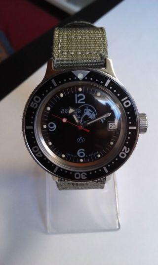 Vostok Amphibia Automatik Diver Dude Schwarzes Inlay Zulu Bild