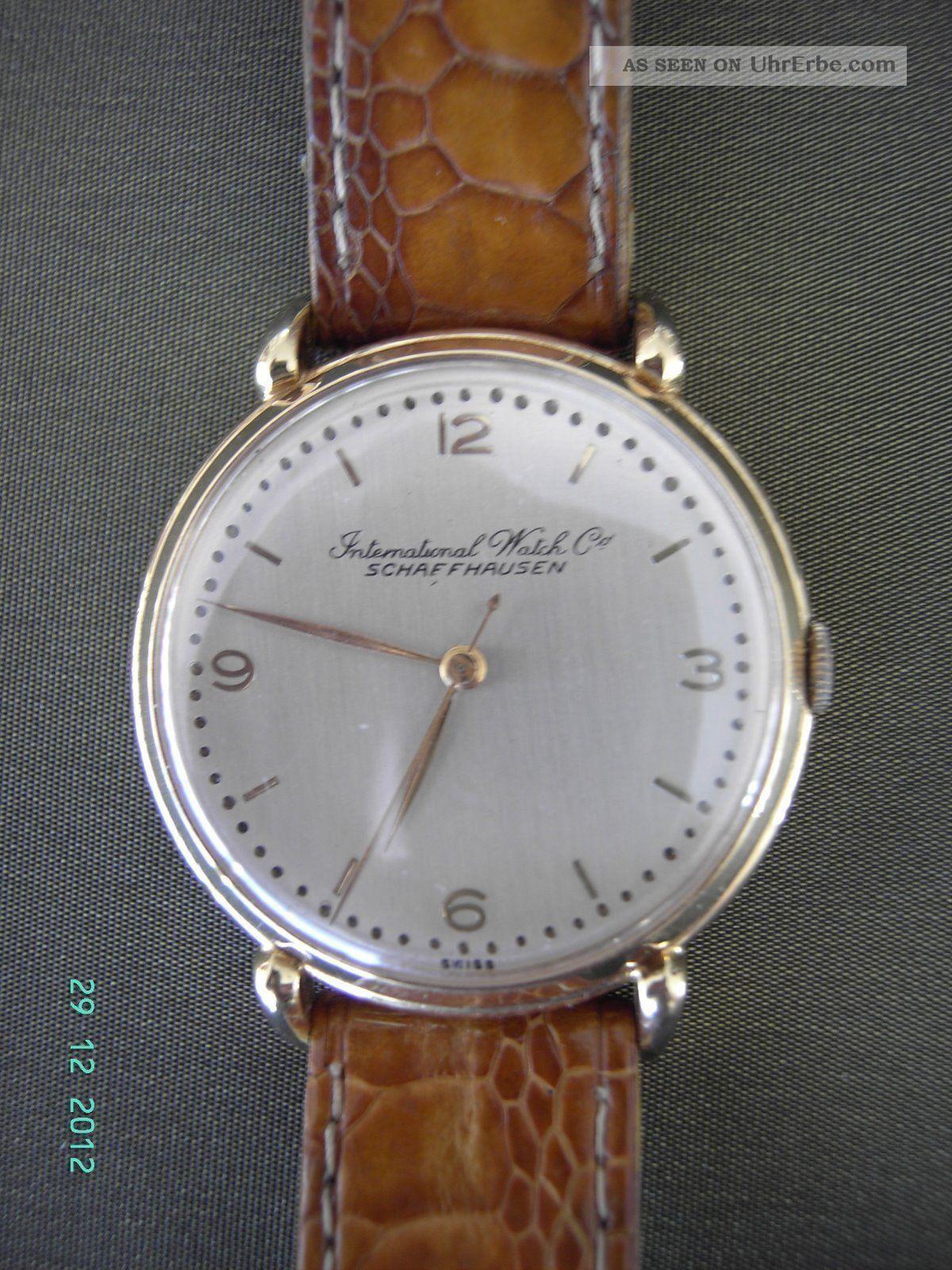 Iwc Schaffhausen,  50 Er Jahre,  18 Karat Gold Armbanduhren Bild