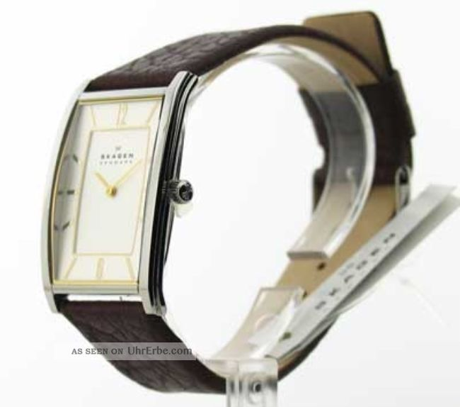 Herren Skagen Leder Armbanduhr Modisch Uhr 294lsl1 Armbanduhren Bild