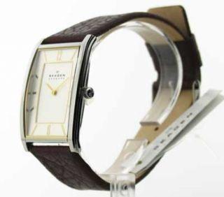 Herren Skagen Leder Armbanduhr Modisch Uhr 294lsl1 Bild