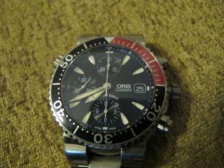 Oris Titanium 300 Meter Automatic Mens Chrono Diver Watch,  Ref.  7542p Bild