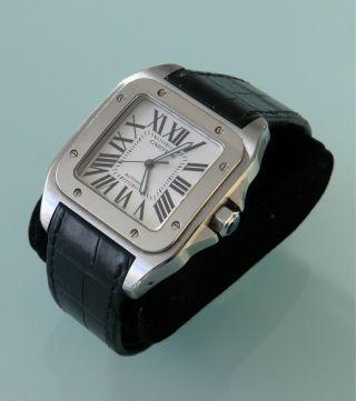 Cartier Santos 100,  Xl Großes Modell,  Edelstahl, Bild