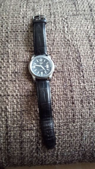 Trias Automatic Herren Leder Armbanduhr Wasserdicht 5atm Bild