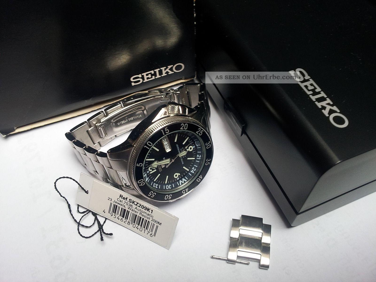 Uhr Seiko 5 Sports Automatic Hau Skz209k1 Diver Kompass Outdoor Armbanduhren Bild