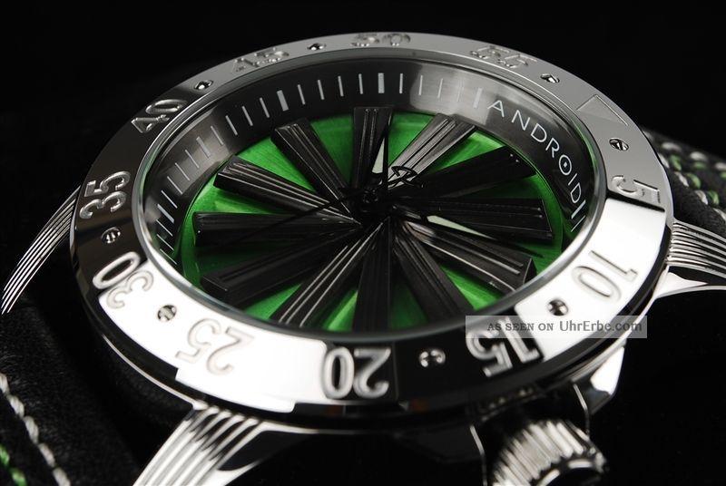 Android Usa Uhr 400$ Automatik Seiko Nh35a Spin Diver 200 M Taucheruhr Grün Armbanduhren Bild