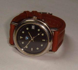 Herrenuhr Bmw Automatic,  Sammlerstück,  Kaliber Mijota 21 Jewels,  Lederarmband. Bild