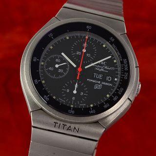 Iwc Schaffhausen Porsche Design Chronograph Automatik Titan Ref 3700 Bild
