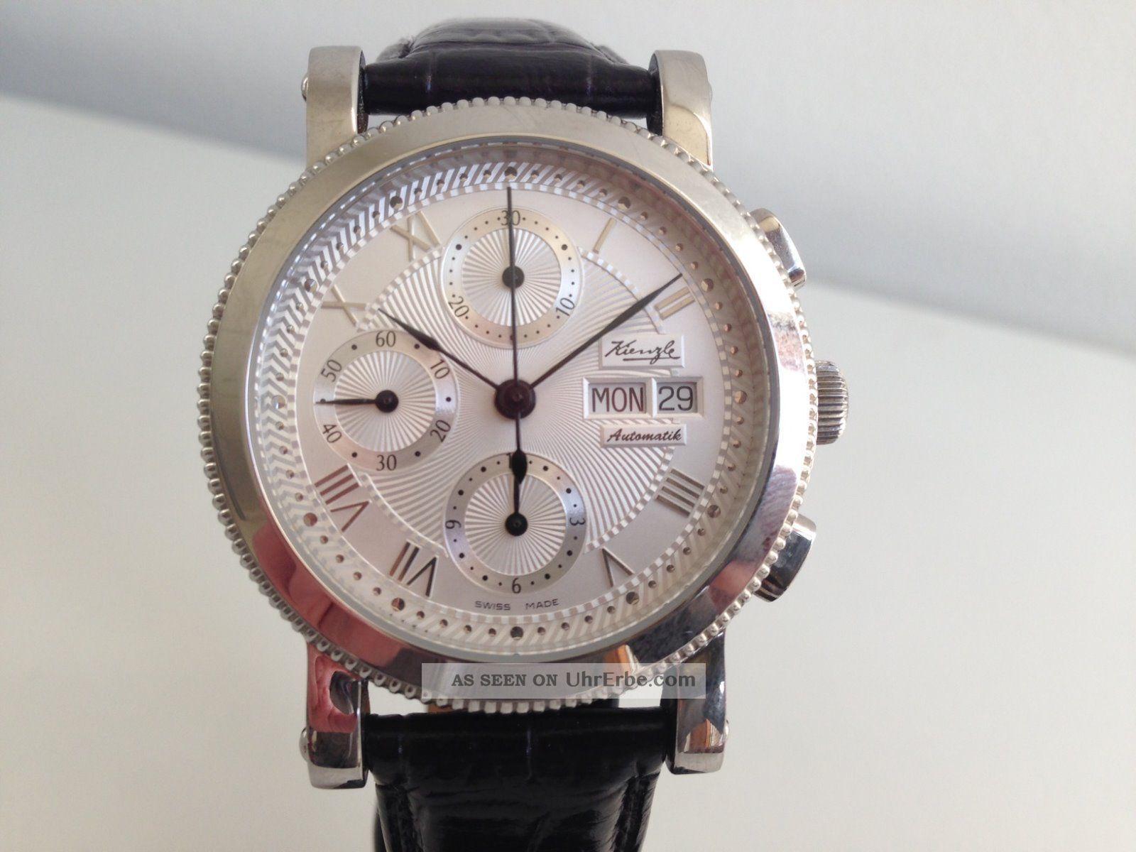 Sammlerstück Sehr Selten Kienzle Chronograph Eta Valjoux 7750 Swiss Made Armbanduhren Bild