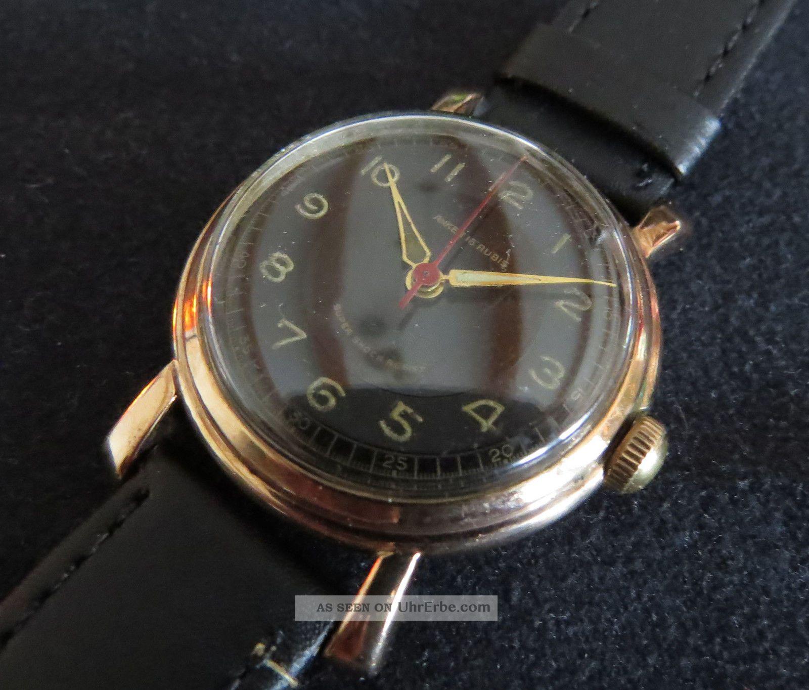 Anker,  Flieger Bzw.  Militäroptik,  Seltenes Frühes Schweizer Ankerwerk Armbanduhren Bild