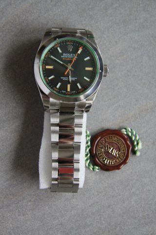 Rolex Oyster Milgauss Lc 100 Automatik 40mm Ref.  116400 Gv,  Uvp 6.  600,  - Bild