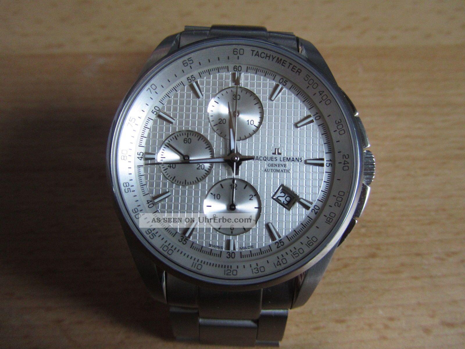 Jacques Lemans Geneve Chronograph,  Valjoux 7750,  Top Armbanduhren Bild