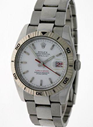 Rolex Oyster Perpetual Datejust Turn - O - Graph 116264 Stahl/wg Box&papiere D - Serie Bild