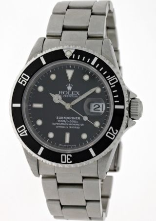 Rolex Submariner Oyster Perpetual Date 16610 Chronometer - T - Serie Bj 1996 - Box Bild