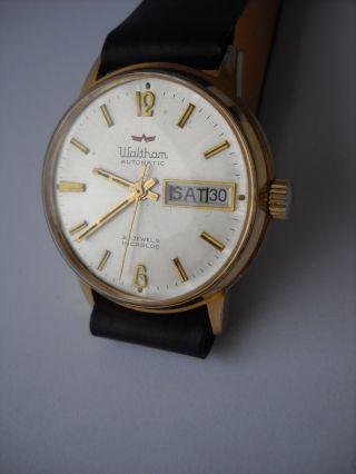 Waltham,  Herren,  Armbanduhr,  Automatik,  Vergoldet,  Kaliber As 1820 Bild