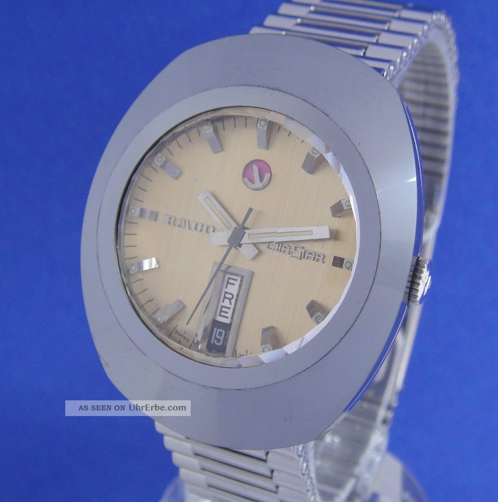 Tolle Rado Diastar Automatik Herren Au Stahl/hartmetall 70er Jahre Top Armbanduhren Bild