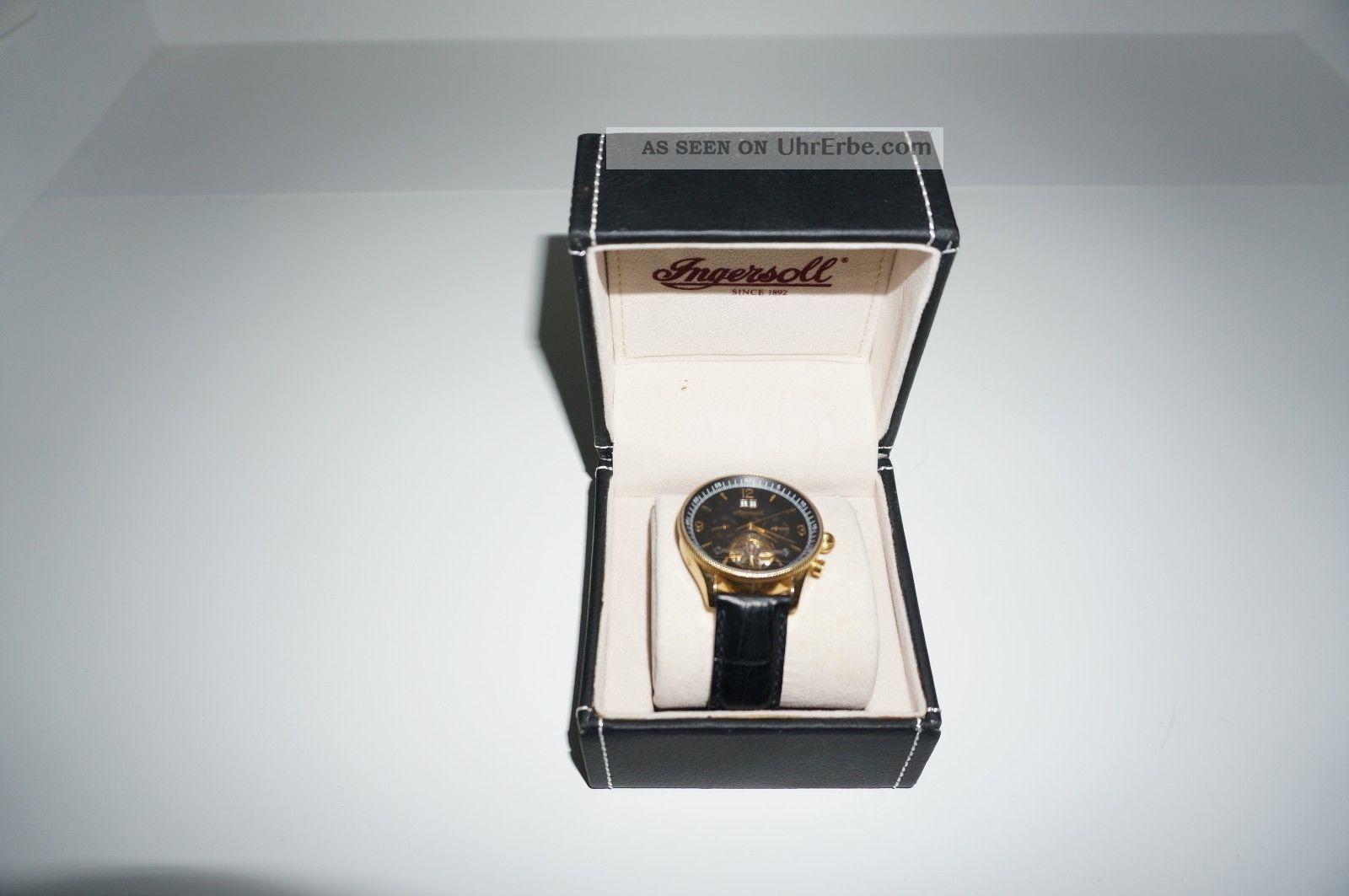 Ingersoll Automatik Uhr Schwarz Gold Wie In Ovp Armbanduhren Bild
