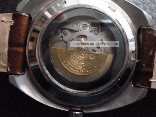 Rado Companion Glasboden Mechanische Uhr 17 Jewels Datum & Tag Lumi Zeiger Top Armbanduhren Bild